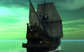 velero, mar, sueo