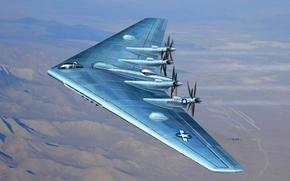 рисунок, самолет, экспериментальный, тяжелый бомбардировщик, ВВС США