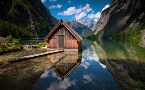 Montagne, lago, loggia