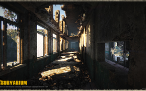 Post apocalypse, survarium, shadow, window, destruction