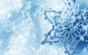 snowflake, macro, ice, Winter, cold, frost