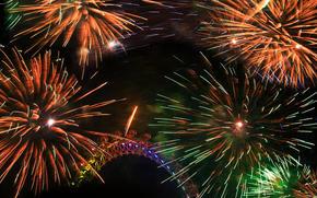 notte, saluto, fuochi d'artificio