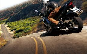 motorcycle, suzuki, bicycle, road, Mountains, people, asphalt, motorcycle, motorbike, bike, road, hill, men, asphalt,