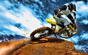Грязный вид спорта, спорт, мотоцикл, обои, Мотоциклы