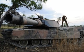 tank, weapon, trunk