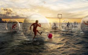 Novel Lauren, Creative, Football, water, Sea, gate, ball, game, humor