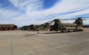 аэродром, база, boeing ch-47, chinook, чинук