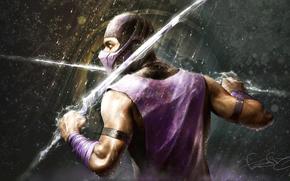 Warrior, rain, weapon, sword, Lightning