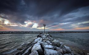 sea, Port, landscape