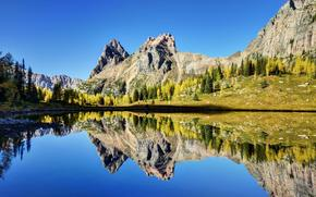 lake ohara, yoho national park, canada, Canada, lake, reflection, Mountains