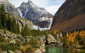 lake ohara, yoho national park, canada, Канада, озеро, горы