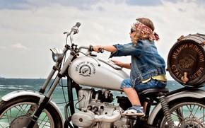 мальчик, мотоцикл, настроение