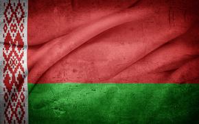 Byelorussia, flag, grunge