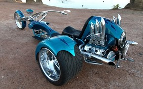 Trike, Triciclo, design, Sintonia, cromo, motocicli