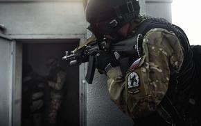 SWAT, lince, Atirador, divisa, automtico