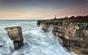 mare, Rocks, faro, paesaggio