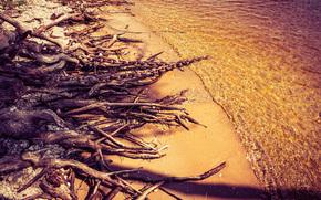kazan, Russia, acqua, superficie liscia, natura, pietre, sabbia, spiaggia, sole, catena, albero, ormeggio