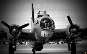 aviation, bomber, b-17, flying fortress