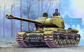 рисунок, тяжелый танк, Иосиф Сталин, РККА, Вторая мировая война