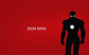 man of iron, red, background, Tony Stark