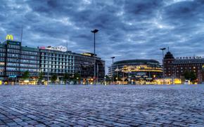 helsinki, finland, Helsinki, Finland, evening, home, lights, ploschyad