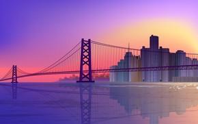 мост, отражение, вектор