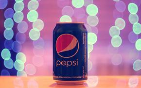 Pepsi, bokeh, luces, reflexiones, luz, Macro, bebidas, publicidad, marca, banco