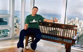 Jean-Claude Van Damme, muzhik, actor, athlete, young