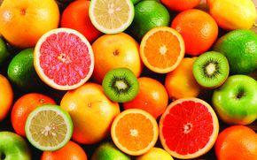 fruta, comida, agrios