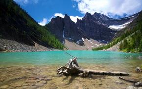 Lake Agnes banff, Canad, lago, Montanhas