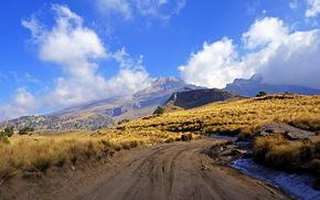 Montagnes, Mexique, Mexico, Istaksiuatl, route