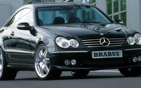 цлк, мерседес, чёрный, тачка, купэ, Mercedes