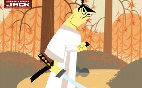 Samurai Jack, Cartoon, series, Fantasy, thriller, Adventures, ... The evil wizard Aku, threw a great warrior ancient samurai named Jack, in the distant future. Discipline and loyalty to the code of the Samurai, makes Jack a hero people of modern times. By