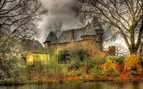 castles, germany, krefeld burg linn, hdr, cities wallpapers