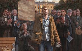 De la Casa Blanca, Washington, Amrica, EE.UU., Presidentes, Barack Obama, George W. Bush, Abraham Lincoln