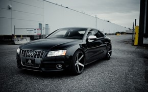 black, machine, before, Audi
