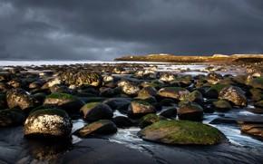 море, камни, пейзаж