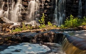 瀑布, 安吉尔荷姆Ň, 石头, 岩石