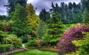 公园, 布查特花园(Butchart Gardens)维多利亚, 加拿大