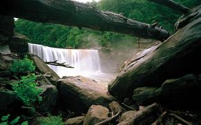 Водопад, cumberland, kentucky