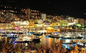 Monaco, city, Port, home, karabl