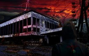 Pripyat, perseguidor, construo,