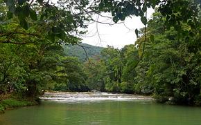 Река, agua azul, Мексика, Чьяпас
