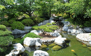 parc, japonais jardin parc Balboa, san diego, Californie