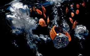 часы, omega, ploprof 1200 m, chronograph, вода, аквариум