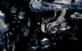 watch, omega, ploprof 1200 m, chronograph, water, aquarium