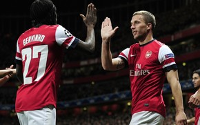 Gervinho, Lukas Podolski, Arsenal UEFA Champions League, giocatori