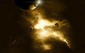 космос, планеты, звезды, пространство