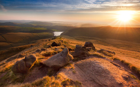 Wallpapers hayfield, england, manchester, sunset, kinder scout