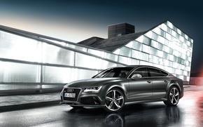 Audi, rs7, sportback, gray, Audi, cars, machinery, Car